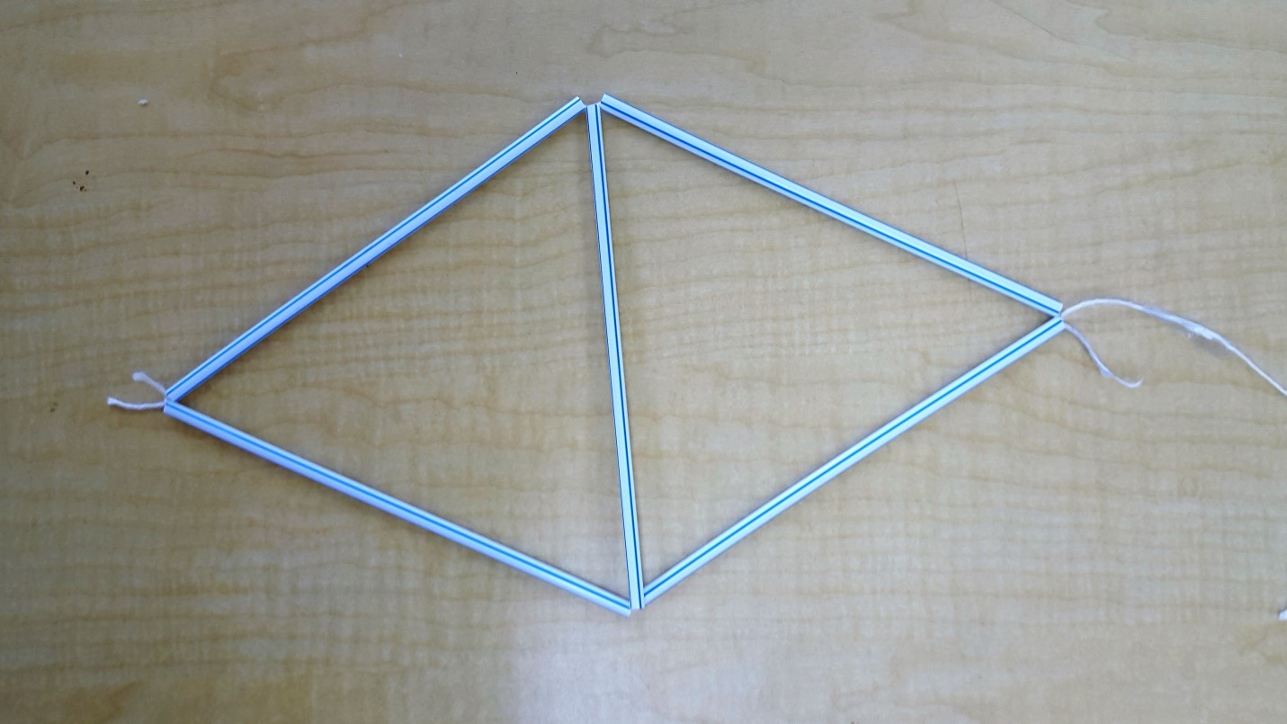 Making a tetrahedral kite make41 for Tetrahedron kite template